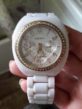 Reloj de pulsera DKNY para Mujer de plástico blanco NY4784-Excelente Estado