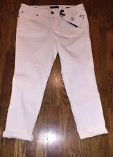 Jessica Simpson Womens Roll Skinny Crop Jeans White Sz 30 NWT