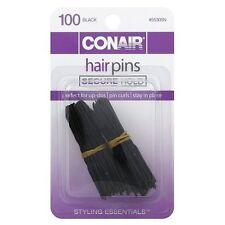 Conair Styling Essentials Hair Pins, Black 100 ea