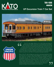 KATO N SCALE Union Pacific 7 Passenger Car Excursion Train Set 106-086 106086