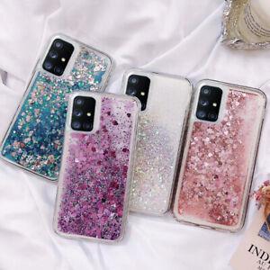 For Samsung A51 A71 S20 Ultra S10 Plus Soft Liquid Quicksand Glitter Case Cover