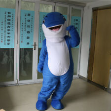 Face Show Adult Cartoon Dolphin Mascot Costume Walking Party Animal Cosplay Suit