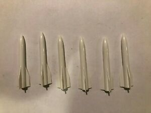 LIONEL PARTS  44 45 6544 6844 SET OF 6 WHITE MISSILES WITH WEIGHT
