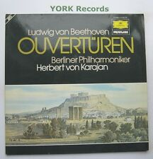 DG 2726 079 - BEETHOVEN - Overtures KARAJAN Berlin Phil O - Ex Double LP Record