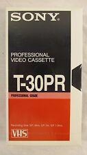 Vintage SEALED Lot of 15 SONY T-30PR Professional High Grade VHS Videocassette
