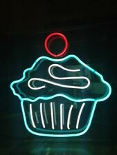 New Cup Cake Homemade Neon Sign Acrylic Light Man Cave Open Bar With Dimmer