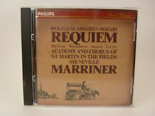 Mozart:requiem  Neville Si Marriner Compact Disc Free Shipping