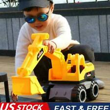 Engineering Construction Truck Excavator Digger Vehicle Toy Kids P5Z6 Car D4M8