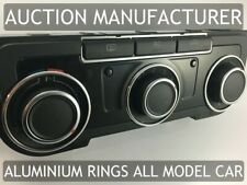 VW Amarok  Heater Control Surrounds Dash Chrome Rings Polished Alloy x3