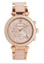 ** NEW ** LADIES ROSE GOLD PARKER WATCH MICHAEL KORS MK5896 ** GORGEOUS **