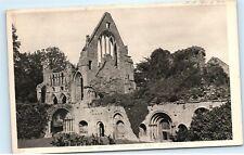*DryBurgh Abbey Church Chapel Cloister Scotland Vintage Postcard B64