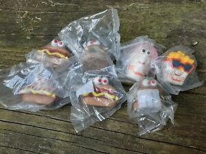 Vintage 1990 Hardees FOOD SQUIRTERS Fast Food Happy Meal Toy Lot SEALED
