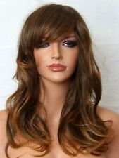 Light Brown Ombre wavy Fashion real natural party Ladies Adult Women WIG F3