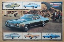 CHEVROLET CHEVELLE ORIG 1973 USA MKT grand format Showroom poster brochure