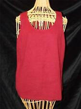 NWT Chico's Sleeveless Red Cotton Blend Scoop Neck Tank Top