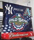 2001 World Series Huge Banner AZ Diamondbacks New York Yankees Budweiser 10 x 10