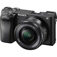 Sony Alpha a6300 Mirrorless Digital Camera with Three Lenses