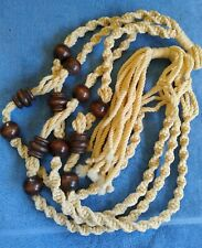 Vintage Large Macrame Plant Hanger with Large Beads, Not made of Jute