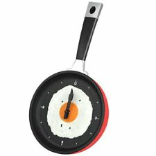 Frying Pan Shaped Kitchen Wall Kitchen Clock Analogue Time Knife & Fork Hands ##
