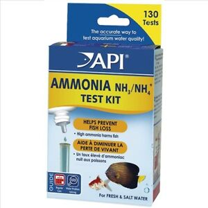 API Ammonia NH3/NH4+ Test Kit Aquarium Fish Tank 130 Tests