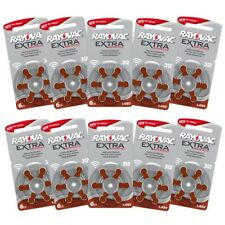 Rayovac 312 Hearing Aid Batteries- BROWN 10 Packs Of 6 - 60 Batteries In Total