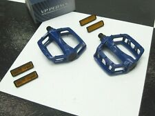 """1 Pair BLUE Alloy Old School BMX Bike 1/2"""" Shaft PEDALS for GT Freestyle Bicycle"""