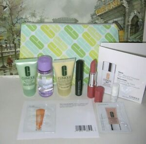 $85 CLINIQUE 9-pc GWP GIFT SET DRAMATICALLY DIFFERENT LOTION, NUDE POP LIPSTICK