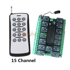 DC 12V Relay 15 Channel Wireless RF Remote Control Switch Transmitter & Receiver
