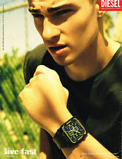 PUBLICITE ADVERTISING 094  2008   DIESEL   collection montres 2