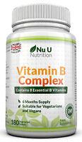 Vitamin B Complex 180 tablets B1, B2, B3, B5, B6, B12, D-Biotin & Folic acid