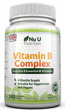 Vitamin B Complex 180 tablets Contains all Eight B Vitamins in one tablet