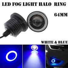 """2pcs 2.5"""" COB LED Angel Eyes Halo Ring Fog Daytime Running Light White&Blue 12V"""