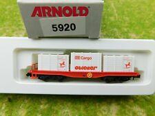 D08 Arnold N 5920 Güterwagen Containertragwagen Obletter OVP TOP