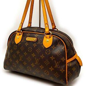 Authentic LOUIS VUITTON Monogram Canvas Classic Bowling Shoulder Tote Bag