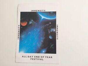 Immensity - Rave Flyer - December 1989