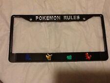 Pokemon Rules License Plate Frame Brand New!