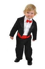 5tlg Kinderanzug Frack Anzug Smoking Kombination Hochzeit Taufe Kommunion 98/104