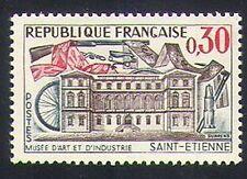 Francia 1960 Museo/minería/Bicicleta/Rifle/Textil/edificio/transporte 1 V (n34758)