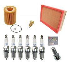 BMW M3 E46 Tune-up Kit NGK Spark Plugs Mann Oil+Air Filters  Drain