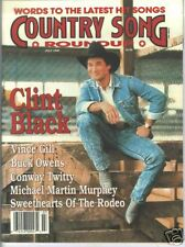 Clint Black Covers Country Song Roundup Magazine 1990