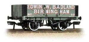 BACHMANN :-37-062A 5 PLANK WAGON WOODEN FLOOR 'EDWIN W.BADLAND BNIB