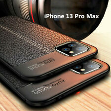 For iPhone 13 Pro Max 12 11 Xs Xr 8 7 Case Shockproof Leather Soft Rubber Cover
