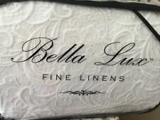 Bella Lux Fine Linens Linen Blend Queen Duvet Set New In Package