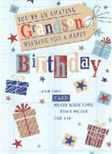 Grandson Birthday Card Red White & Blue By Simon Elvin Free P&P