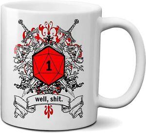 Well Shi* DND Gift DM Dungeons and Dragons RPG Pathfinder Master Ceramic Mug