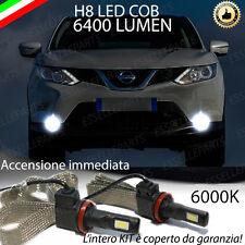 KIT FULL LED PER NISSAN QASHQAI II LAMPADE H8 FENDINEBBIA CANBUS 6400L 6000K