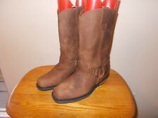 Men's Xelement Brown Leather Harness Western  Boots Size 8.5M