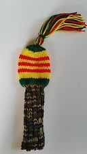 VIETNAM VET RIBBON HAND KNIT GOLF CLUB HEAD-COVER for woods Vintage/tassles/pom