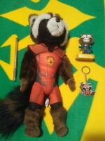 Marvel Guardians of the Galaxy Rocket Raccoon Plush toy, figure & keychain