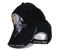 Native American Eagle Indian Native Pride Shadow Black Baseball Ball Cap Hat